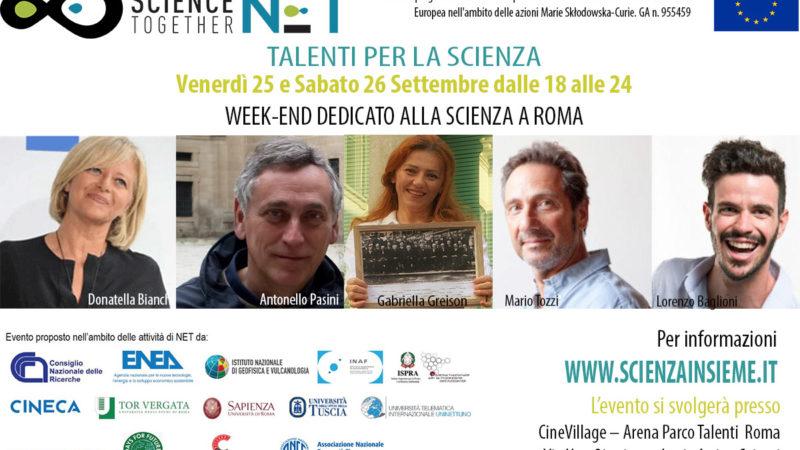 """25 e 26 SETTEMBRE: """"TALENTI PER LA SCIENZA"""" TORNA A ROMA LA NOTTE DEI RICERCATORI. 8 GIORNI TREKKING SCIENTIFICI A VITERBO"""